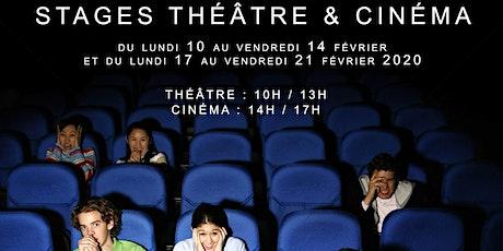 Stages théâtre & cinéma de 10 à 18 ans tickets
