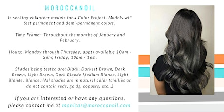 Moroccanoil Color Project tickets