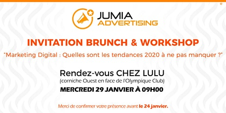Workshop & Brunch- Tendances du Marketing Digital à ne pas manquer en 2020 tickets