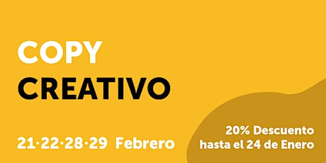CURSO COPY CREATIVO tickets