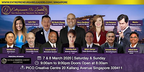 Unleash The Speaker Within At Entrepreneurs Are Leaders 7&8 March 2020 tickets