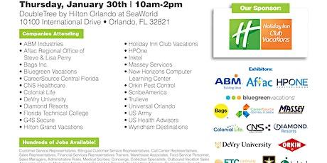 Huge Orlando Job Fair - January 30th - 100's of Jobs Available tickets