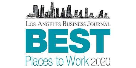 Los Angeles Business Journal Best Places to Work Awards 2020 tickets
