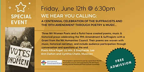We Hear You! A Celebration of the Suffragists Through Poetry & Music tickets