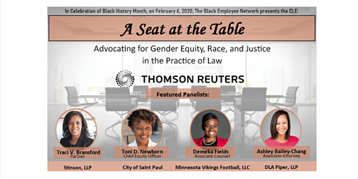 CLE: Thomson Reuters Black Employee Network Presents: A Seat at the Table