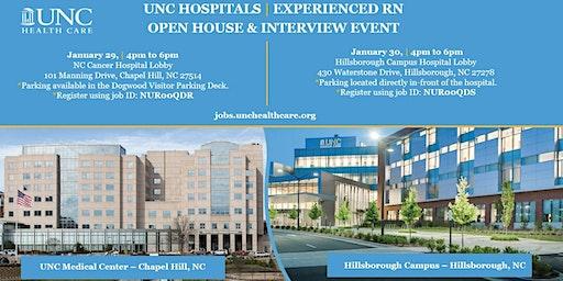 UNC Hillsborough Hospital Experienced RN Open House 1/30/20