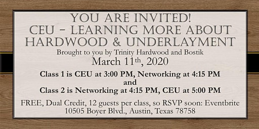 CEU - Learn MORE About Wood & Brought to you by Trinity Hardwood and Bostik