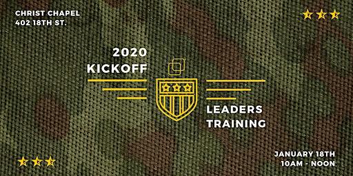 2020 Kickoff Leaders Training