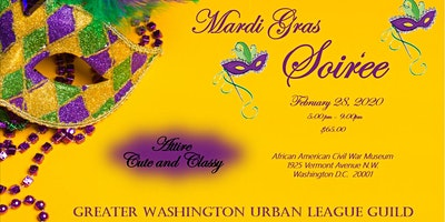 GWUL Guild Mardi Gras Celebration February 28, 2020