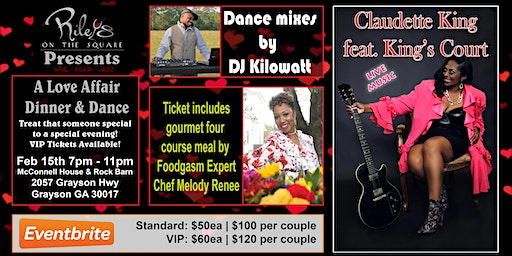 Riley's on the Square Presents A Love Affair - Dinner and Dance