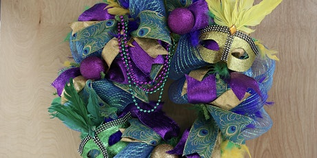 Mardi Gras Wreath-   (limited Seating)  -  BYOB tickets