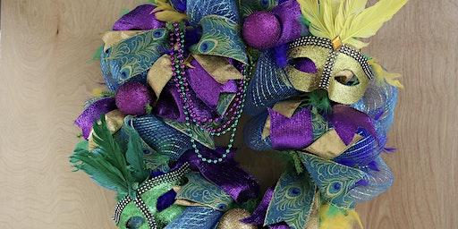 Mardi Gras Wreath    -   (limited Seating)  -  BYOB
