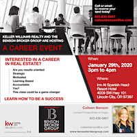 Come be part of the growth on the Oregon Coast with Keller Williams!