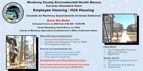 Employee Housing/H2A Housing Information Panel   tickets