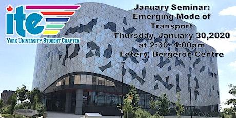 January Seminar: Emerging Mode of Transport tickets