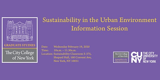 Information Session for Sustainability program at City College of New York