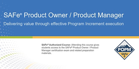 SAFe® 5.0 Product Owner/Product Manager Certification Training in Toronto, Canada tickets