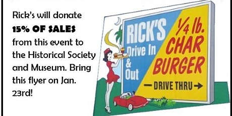 Dining for Dollars: Rick's Drive In & Out tickets