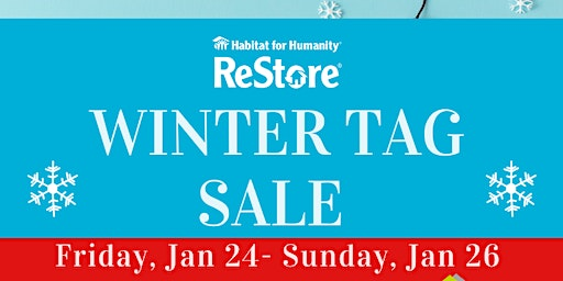 You're Invited! Up to 50% off at our Winter Tag Sale Jan 24- 26
