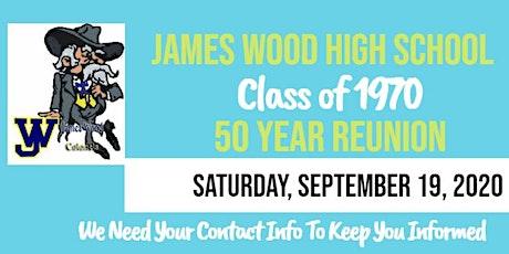 James Wood HS 50th class reunion tickets
