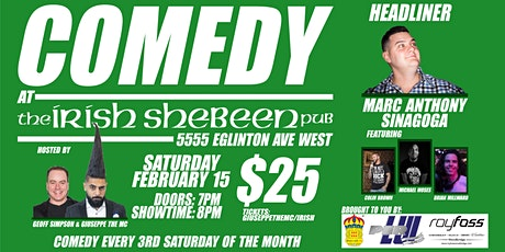 Comedy at The Irish Shebeen Pub tickets