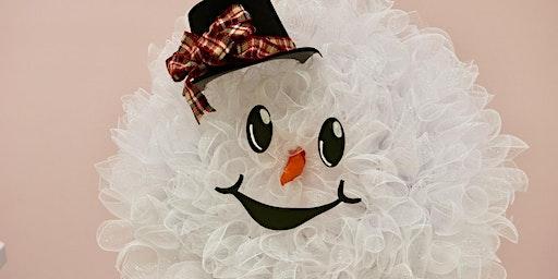 Happy Snowman Wreath - BYOB