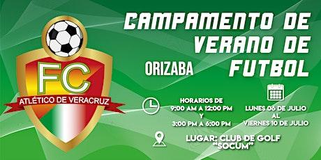 Campamento de verano de fútbol Orizaba Jóvenes 13 - 18 años boletos