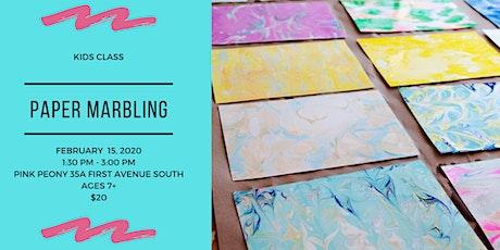 Paper Marbling - Kids Class tickets