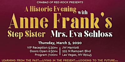 A Historic Evening with Eva Schloss - Anne Frank's Step-Sister