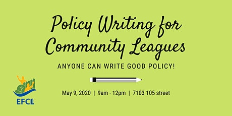 Policy Writing for Community Leagues tickets
