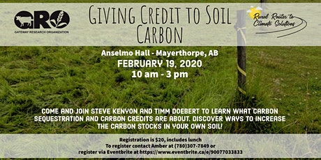 Giving Credit to Soil Carbon Workshop tickets