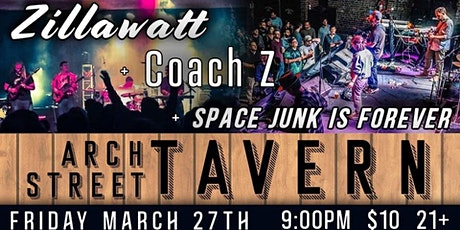Zillawatt/Coach Z/Space Junk Is Forever at Arch Street Tavern tickets