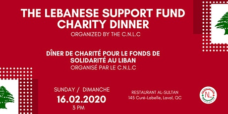 The Lebanese Support Fund Charity Dinner tickets