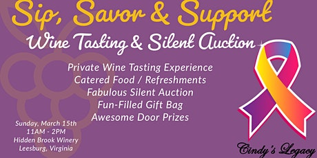 Sip, Savor & Support Wine Tasting and Silent Auction  tickets