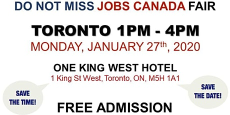 Free: Toronto Job Fair - January 27th, 2020 tickets