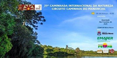CAMINHADA INTERNACIONAL DA NATUREZA -CIRCUITO MANANCIAL EM BALSA NOVA