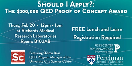Should I Apply?:  The $200,000 QED Proof of Concept Award tickets