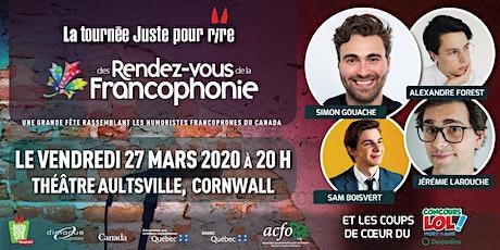 La tournée Juste pour Rire des Rendez-vous de la Francophonie 2020 tickets