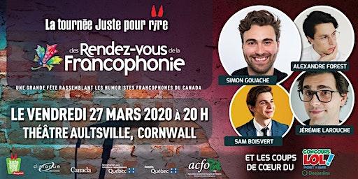 La tournée Juste pour Rire des Rendez-vous de la Francophonie 2020
