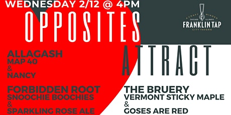 """""""Opposites Attract"""" Beer Feature at Franklin Tap tickets"""