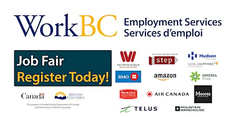 South Surrey/White Rock WorkBC Job Fair -- Banking, Airline, Environmental, Retail, Healthcare and Sales tickets
