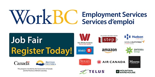 South Surrey/White Rock WorkBC Job Fair -- Banking, Airline, Environmental, Retail, Healthcare and Sales