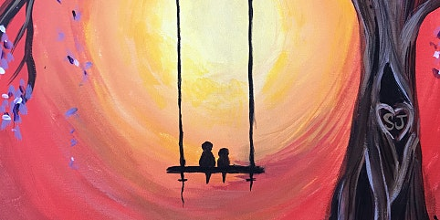 PAINT AND SIP- LOVEBIRDS ON A SWING
