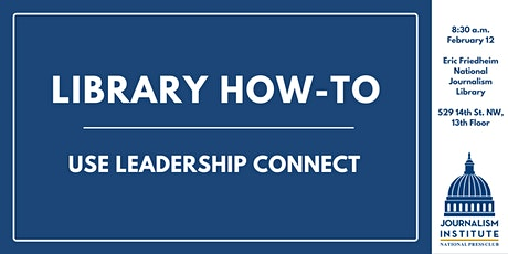 Library How-To: Use the Leadership Connect database tickets