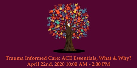 Trauma Informed Care: ACE Essentials, What & Why? April 22nd, 2020 10:00 AM - 2:00 PM tickets