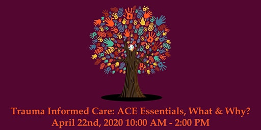 Trauma Informed Care: ACE Essentials, What & Why? April 22nd, 2020 10:00 AM - 2:00 PM