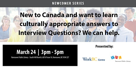 Culturally Appropriate Answers to Interview Questions: A Free Workshop tickets