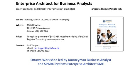 Enterprise Architect for Business Analysts tickets