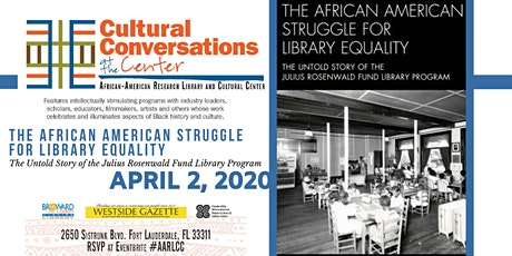 Cultural Conversations @ the Center: African American Struggle for Library Equality tickets