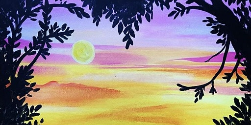 PAINT AND SIP- Love at Sunset!